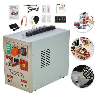 709A 1.9KW Welding Machine 2 in 1 Spot Welder Iron Soldering Staion Battery 60A