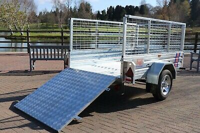 KirbyTrailers 750kg CAGED & RAMPED Heavy Duty Galvanised Box Utility Car Trailer