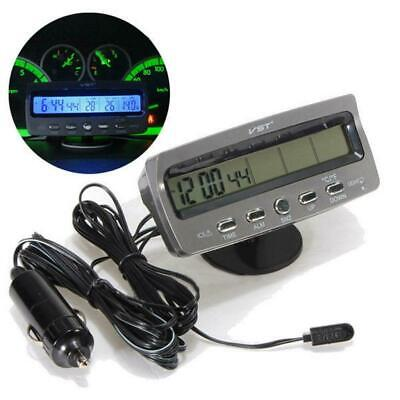 3in1 Auto Digitaluhr Temperatur Spannungsmesser Thermometer LCD Display TS-7045V