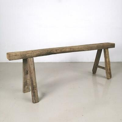 Old Rustic Antique Vintage Wooden Waxed Pig Bench Small Pb121