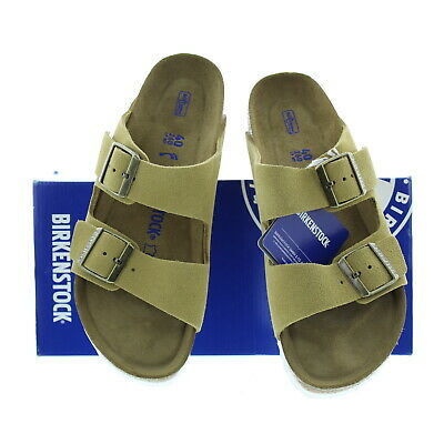 36490c95f6e7 Birkenstock Women s Arizona Suede Leather Narrow Fit Sandals 1003735 Sand