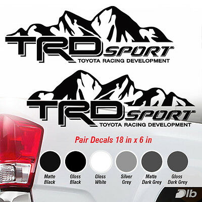 TOYOTA TRD SPORT Decals Vinyl Stickers 1 PAIR Tundra Tacoma Truck Graphics 2016