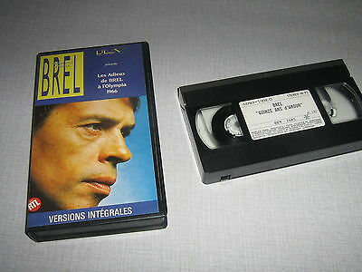 Jacques Brel K7 Video - Les Adieux De Brel