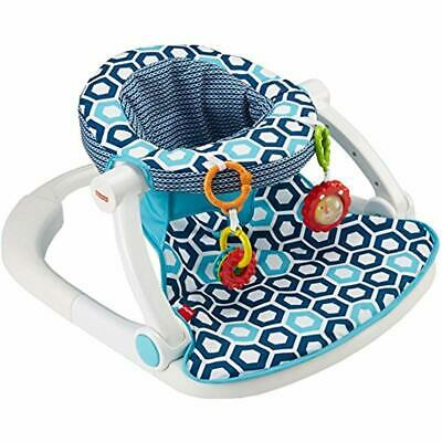 Fisher-Price Bouncers Sit-Me-Up Floor Seat, Blue Geo Baby