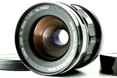 【Exc+5】Canon FL 35mm f2.5 Wide-Angle Manual Focus Lens w/Caps from Japan