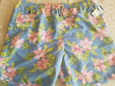 3f233654a1 Polo Ralph Lauren Swim Trunks Board Shorts Blue Floral Size lg lt large  tall NWT