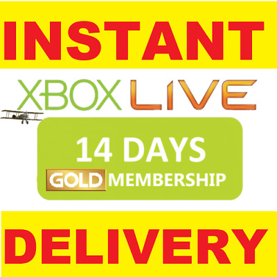 Xbox Live 14 Days 2 Weeks Trial Gold Code 14 Day - Same Day Fast Dispatch