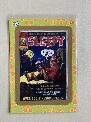 2008 Wacky Packages Flashback Series 1 Gold Sleepy #50. NM/MT