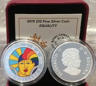 1969-2019 EQUALITY $10 1/2OZ Pure Silver Proof Coin Canada: 50th Anniversary of