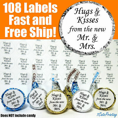HERSHEY KISS SIZE OR OTHER OPTIONS BRIDAL OR WEDDING PEARL HEARTS STICKERS #37