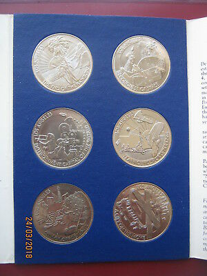 Los Angeles 1981 Bicentennial Birthday Dollars 6 coin Set Collection info folder