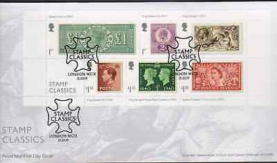 2019 FDC - Stamp Classics   London WC1  Postmark  - Post Free