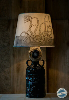 Kraken Rum Ceramic Bottle Lamp Diy Handmade Project