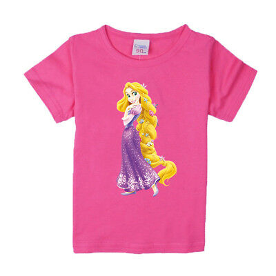 1-8 years baby Girl t-shirt Girls tee shirts for children princess clothes