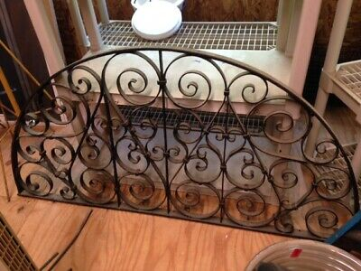 Beautiful Antique Large Iron Half Round Arch Window Grill