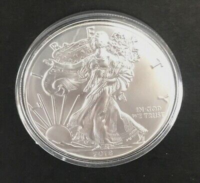 Silver 2018 American Eagle 1 oz. Bullion Coin - .999 Fine Silver in Air Tite