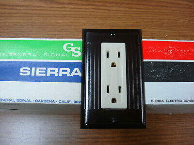 Sierraplex Biplex Triplex Vintage Switch Outlet Wall Cover Plate 1G Sierra Brown