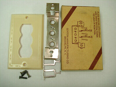 Vintage Leviton Kwikchange Ivory Switch Outlet Receptacle Wall Cover Plate 773