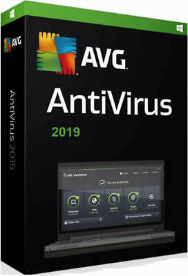 AVG AntiVirus 2019 - for 1 year & 1 PC or Laptop. Postal Version