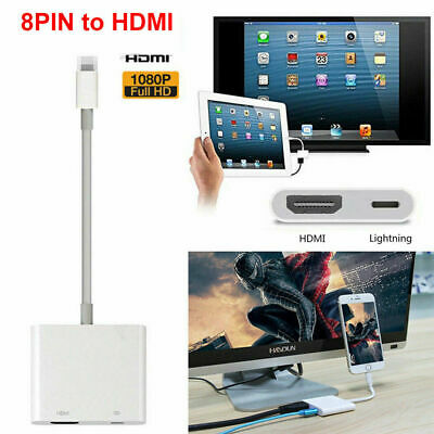 8 Pin Lightning to HDMI Digital AV TV Adapter Cable For iPhone 6 7 8 Plus X iPad