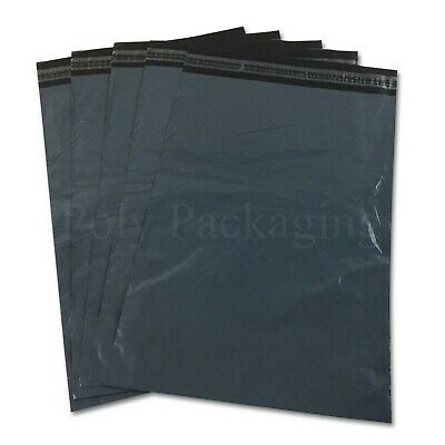 """50 x GREY Mailing Bags 10x12""""(250x300mm) Royal Mail LARGE LETTER Size Postage"""
