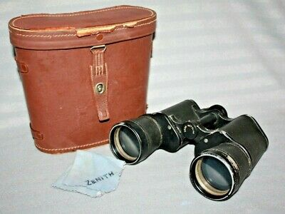 Vintage Zenith 7 x 50 Binoculars, Zeiss-Wetzlar, Cased, Made in Germany 1950's