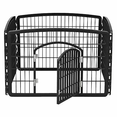 4 Panel  Pet Playpen + Door 24'' provides 8 Square Feet Of Play Space For Pets