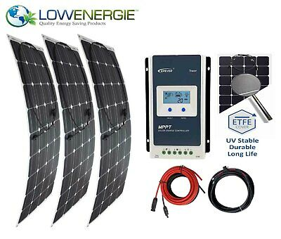 300w Flexible Solar Panel Charging Kit Marine Caravan K4 MPPT Charger Controller