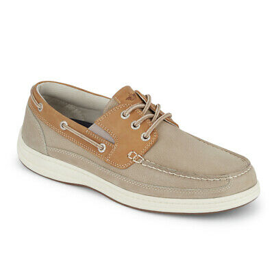 Dockers Mens Anchor Leather Casual Rubber Sole Sport Boat Shoe with NeverWet