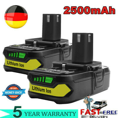 2X 18V 2.5Ah Lithium ion Akku für Ryobi ONE Plus P108 P107 P105 P104 Batterie EG