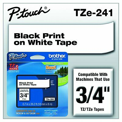 """Brother TZE241 0.7"""" Standard Laminated Tape –26.2'"""