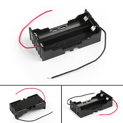 2 Cell 18650 Parallel Battery Holder Case For 3.7V Battery With Leads BU