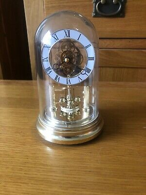 vintage Anniversary Mantle Clock With Skeleton Movement
