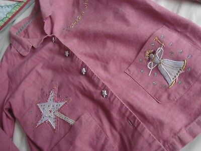 Girls Marks and Spencers Cotton MAKE A WISH! Pyjama Set Aged 7-8 Years