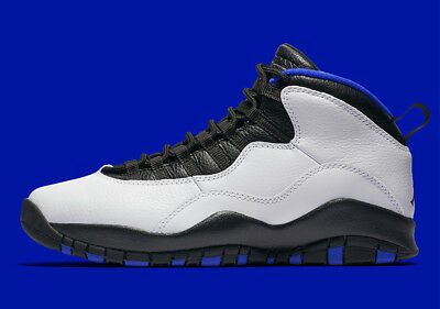 buy popular e2ce0 20d27 Nike Air Jordan X 10 Retro Orlando Magic Gs SZ 4y White Royal Black 310806-