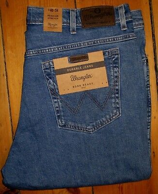 51c8d013 WRANGLER DURABLE JEANS Regular Stretch Mens W40L W40X34L New Nwt ...