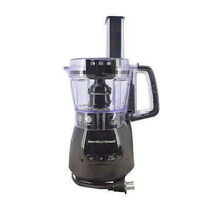 Hamilton Beach Stack & Snap 4-Cup Compact Food Processor in Black