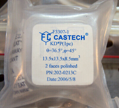 KD*P DKDP crystal 13.5 x 13.5 x 8.5mm  36.5 degree type I Castech