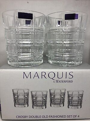 4 x Waterford Crystal Marquis Large Whiskey Tumblers Brand New In Box