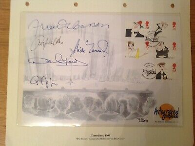 """WESTMINSTER """"AUTOGRAPHED EDITIONS"""" 1998 COMEDIANS x 5 SIGNED GB FIRST DAY COVER"""
