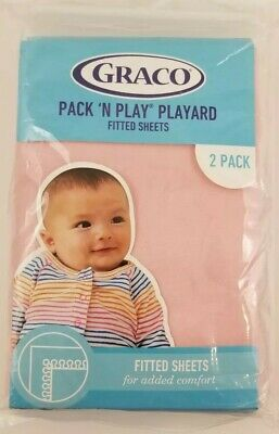 Graco Pack 'N Play Playard Powder Pink Fitted Sheets Bassinet - 2 pack
