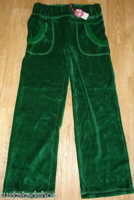 Green velour trousers Nolita Pocket girl joggers pants  5-6 y  BNWT