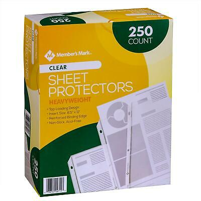 Member's Mark Heavyweight Sheet Protectors, Clear (250 Count)