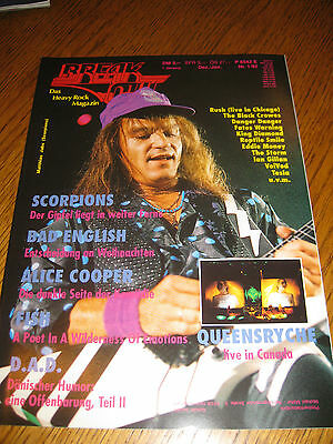 Break Out 1/92- Scorpions, Alice Cooper, Rush, Queensryche, Bad English, D.A.D