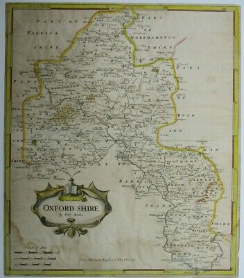 Antique map of Oxfordshire by Robert Morden 1695