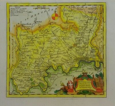 Antique map of Middlesex by Thomas Kitchin 1760