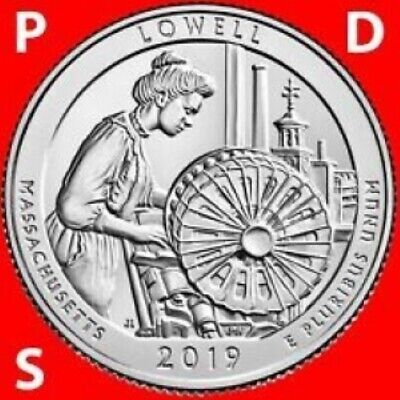 2019 P - D - S   Brilliant Uncirculated    Lowell Mass.   America The Beautiful