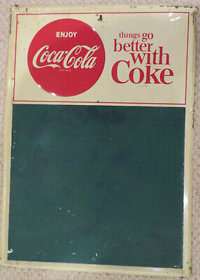 things GO better WITH coke CHALKBOARD sign GOOD condition SAME owner 30+ YEARS!!