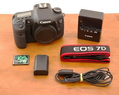 Canon EOS 7D 18.0MP DSLR Camera - Black (Body Only) - Free  Expedited Shipping
