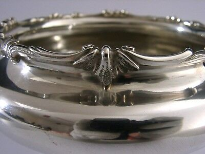 ENGLISH PLANISHED SOLID SILVER BOWL ARTS & CRAFTS LONDON 1969 HEAVY 325g